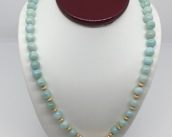 Reversible Larimar Necklace