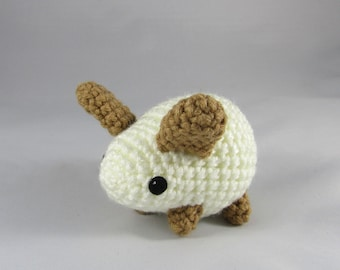 Baby Bunny Plush Toy - White and Tan Babby Rabbit - Amigurumi Bunny - Easter Toy Bunny - Plush Rabbit - Cute Baby Toy - Nursery Decor