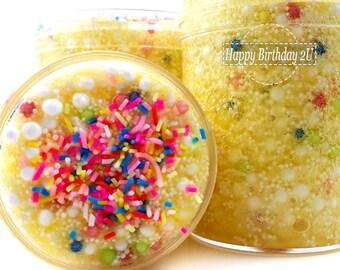 Happy Birthday 2U floam slime - popular slime - Birthday Slime