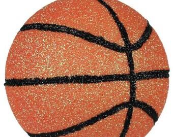 "3.5"" Basketball Ornament Black/Orange/Wreath Supplies/NBA Basketball/Sports Decor/MS129020"
