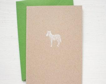 kraft ZEBRA folded notecards