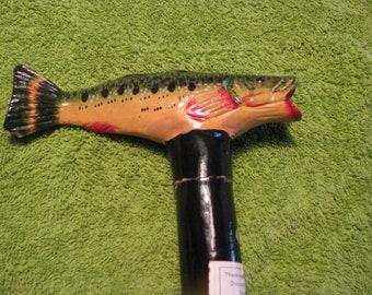 Vintage Folk Art Fish Cane