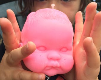 """Doll Head Candle - """"GaGe"""""""