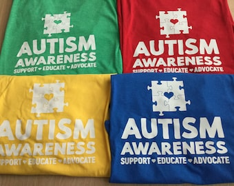 Autism Awareness Autistic T-shirt! Soft, Full of Love, Support, Fun colors