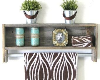SALE Reclaimed Towel Rack Shelf--3 Colors Available!!