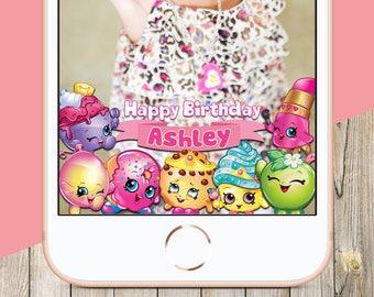 Shopkins Snapchat GeoFilter, Kids Birthday Snapchat Filters, Personalized Shopkins Party Snapchat GeoFilter,Shopkins Birthday Party Snapchat