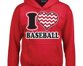 I Heart Baseball Hoodie