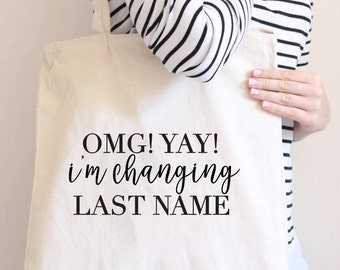 Pop The Bubbly I'm Getting A Hubby, Bride Tote Bag, Bride, Wedding, Wedding tote, Bride gift, mrs tote