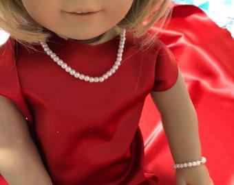 Beaded necklace and bracelets