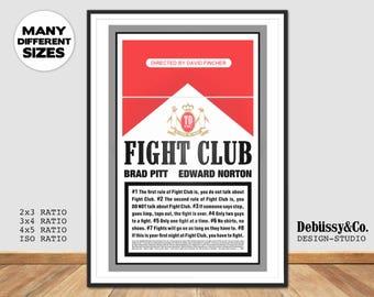 Fight Club poster, Fight Club print, Fight Club art, Tyler Durden print, Tyler Durden poster, Fight Club, David Fincher poster