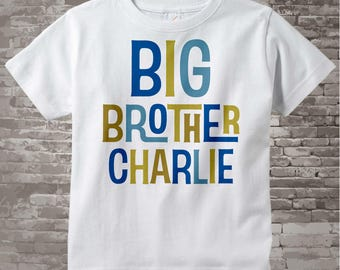 Boys Personalized Big Brother Tshirt or Onesie, Infant, Toddler or Youth sizes 12172013b