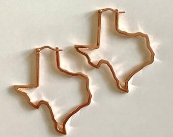 Texas Shape Hoop Earring
