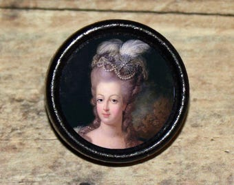 Portrait French Queen MARIE ANTOINETTE Pendant or Brooch or Ring or Earrings or Tie Tack or Cuff Links