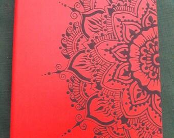 Hand Painted Mandala Journal