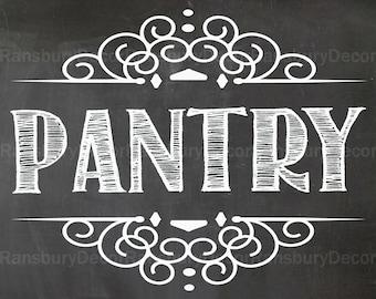 Pantry Chalkboard Sign - Digital Chalkboard Sign - Instant Download - Printable Chalkboard