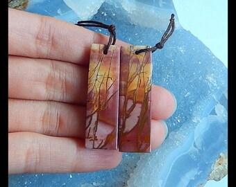 Cheap Natural Multi-Color Picasso Jasper Earring Bead,39x12x4mm,7.8g,-E9753