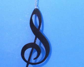 Treble Clef, Metal Art, Wall Hanging, Home Decor, Musical