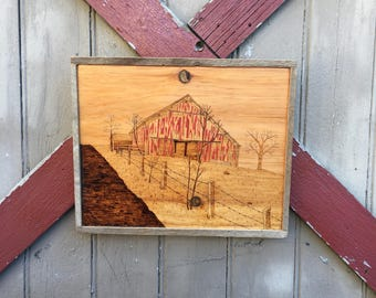 Old Barn portrait