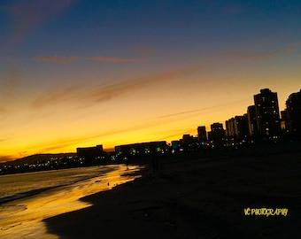 Long Beach City Sunset