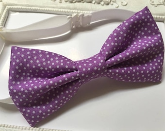 Lilac purple bowtie - man