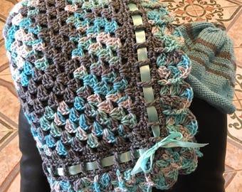 baby afghan or lap blanket