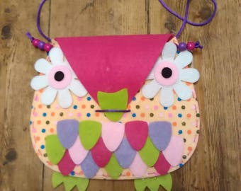 Handmade Felt Owl Bag