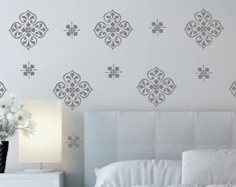 Vinyl Wall Decal-Damask Medallion Design- Vinyl Wall Decal