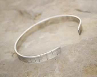 Birch Bark Jewelry, Birch Bark Bracelet, Sterling silver cuff, Natural jewelry, simple bracelet
