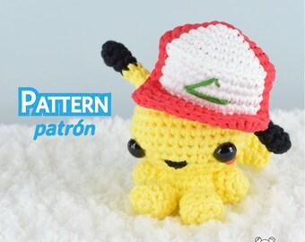 Pikachu amigurumi, Pokemon amigurumi, Pokemon Pikachu, patrón crochet, amigurumi Pikachu, patrón amigurumi, patrón pdf, amigurumi Pokemon