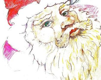 """Santa """"Pasha""""  (framed print)"""