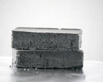 Black Lava Salt Soap - Natural Salt Soap - Aromatherapy Soap Bar