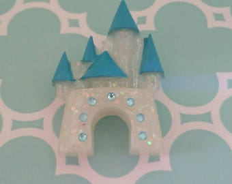 Enchanted Theme Park Castle Brooch