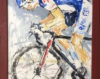 Extra Effort...  Cycling, Art, SketchyArt, Sports, Bicycle