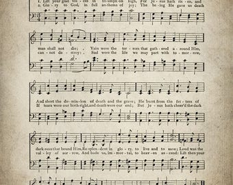 Lift Your Glad Voices Hymn Print - Sheet Music Art - Hymn Art - Hymnal Sheet - Home Decor - Music Sheet - Print - #HYMN-P-021