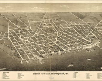 Poster, Many Sizes Available; Map Of City Of Sandusky, Ohio 1883