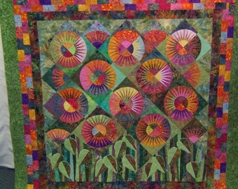 Magic Garden/custom quilt made to your order
