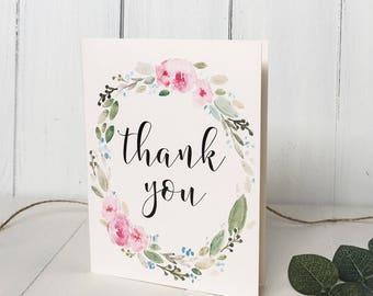 Boho Chic Watercolour Wedding Thank you cards. Thank you cards. Note cards, Thank you note Wedding Stationary Weddings