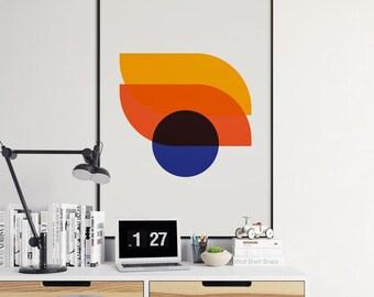 Geometric Art, Modern Decor, Digital Prints, Geometric Art Printable, Wall Decor, Scandinavian Poster, Geometric Poster, Instant Download