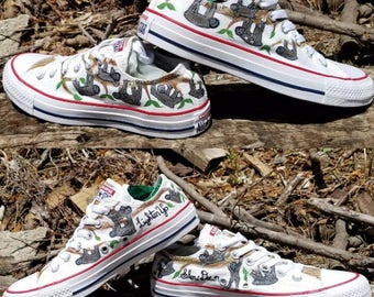 Sloth Hand Painted Sneakers