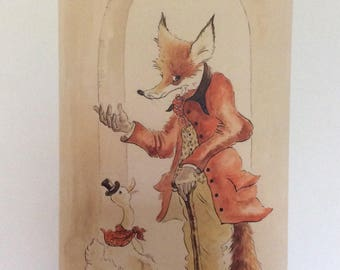 Step in to my office - signed limited edtion fox and duck print
