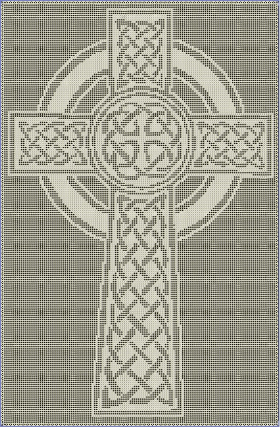 Celtic Cross Filet Crochet Pattern