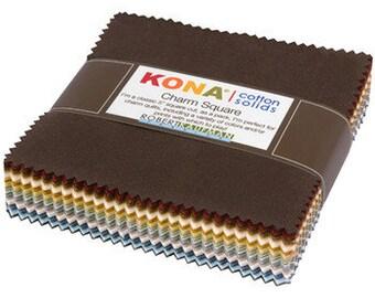 Kona Cotton Neutral Colorway Charm Pack by Robert Kaufman