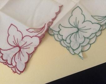 Vintage Handkerchiefs / Daffodils