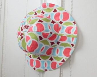Girl Sun Hat, 12 to 24 Month Girl Sun Hat, Reversible Sun Hat