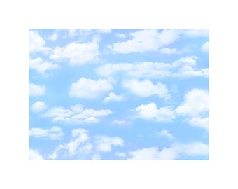 Small Clouds - Lt Blue (505-LTBLU) by Elizabeth's Studio Cotton Fabric Yardage
