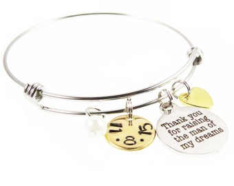 Mother of the Groom Gift - Custom Hand Stamped Jewelry - Mother of the Groom - Mother Wedding Day Gift - Gifts - Expressions Bracelets