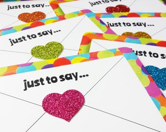 Rainbow Postcard Set - Happy Mail Positive Postcards - Colourful Thank You Cards
