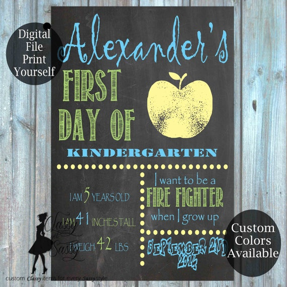 First Day Of School Chalkboard Sign 154