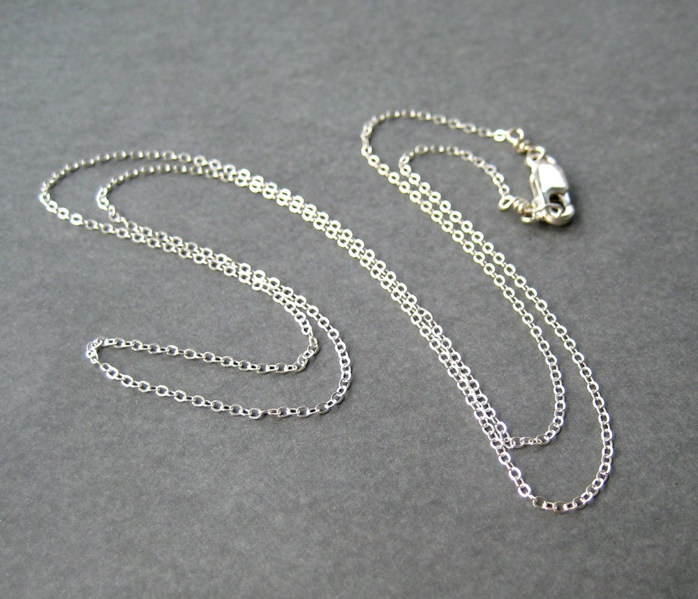 22 Inch Sterling Silver Chain Fine Gauge Chain Necklace