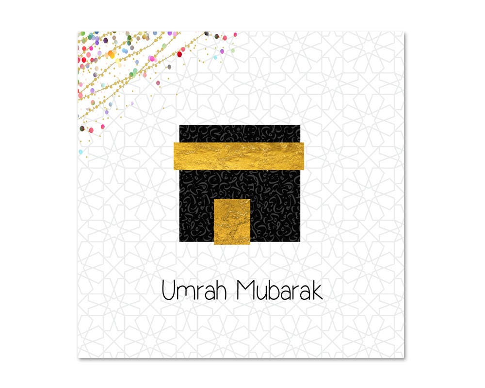 Umrah mubarak islamic greeting card zoom m4hsunfo